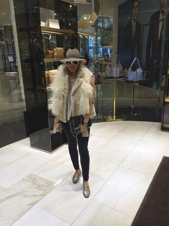 hat gucci vintage fur fur vest mink prada hermes flats gold london paris fur coat mink fur ostrich gold shoes fedora streetstyle streetwear fashion blogger