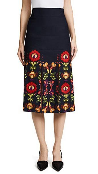 STELLA JEAN skirt floral black