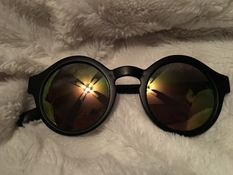 sunglasses rainbow black wet seal