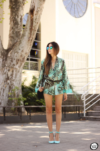 fashion coolture blogger romper print