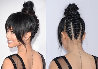 hair accessory hair hairstyles hair bun karrueche amas 2015