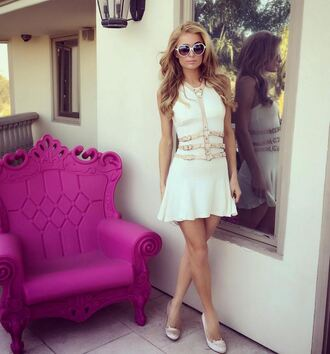 dress belt summer dress paris hilton pumps sunglasses mini dress shoes