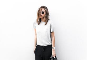 black grey t-shirt grey shirt grey top cotton cotton top transitional wear zimmermann unisex minimalist casual everyday wear unisex shirt menswear for women