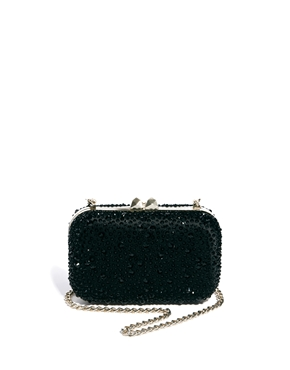 Karen Millen | Karen Millen Crystal Encrusted Box Clutch Bag at ASOS