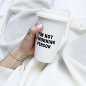 home accessory,coffee,im not a morning person,white,coffee tumbler