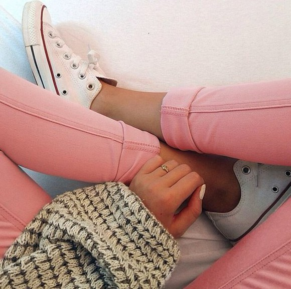 converse jeans clothes pastel jeggings jewels