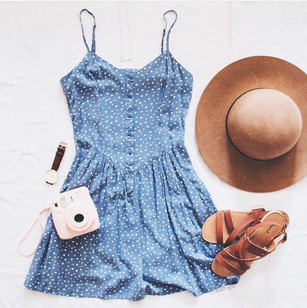 dress cute dress white blue and white blue dress blue tumblr outfit tumblr dress summer summer dress summer outfits