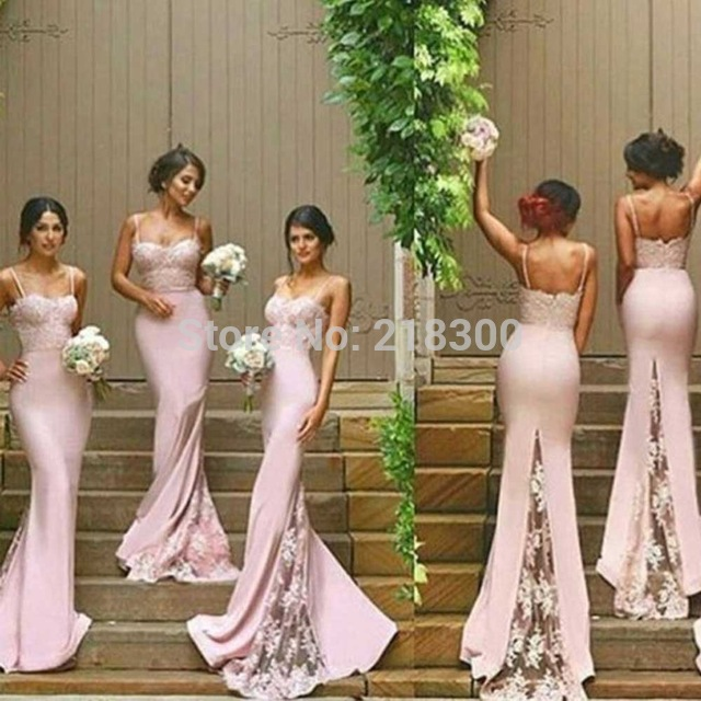 fc5b21e57bca Aliexpress.com : Buy Light pink mermaid bridesmaid dresses lace mermaid  pageant dresses formal gowns from Reliable ...