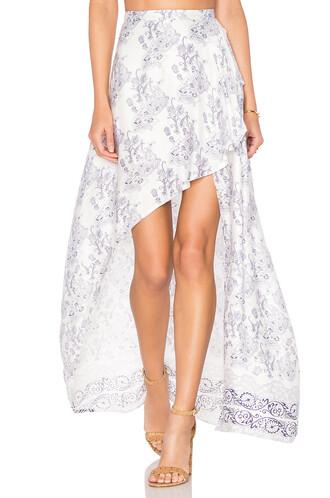 skirt maxi skirt maxi infinity white