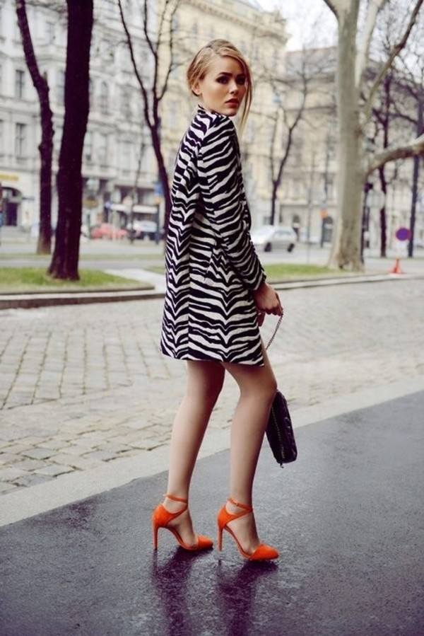 coat fall outfits spring outfits zebra zebra print aliexpress sheinside