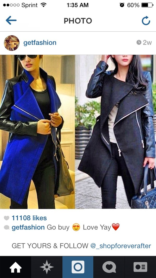 jacket black or blue