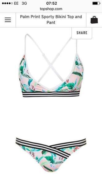 swimwear bikini bikini top topshop swimwear two piece swimwear printed