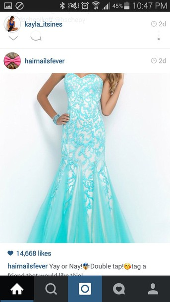 dress white dress blue lace dress mermaid prom dress instagram dress