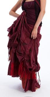 skirt,gekko bohotique,gypsy,steampunk,steampunk clothing,high waisted boho skirt,boho skirt,victorian,victorian skirt,victorian goth,victorian style,victorian maxi skirt,parachute skirt,steampunk skirt,steampunk fashion,long skirt,maxi skirt,long steampunk skirt,puff ball skirt,rouched skirt