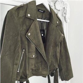 jacket army green jacket khaki suede jacket green green jacket clothes like silver details army green