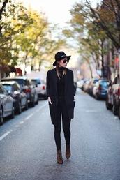 we wore what,blogger,hat,preppy,blazer,leopard print high heels