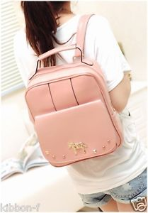Pastel Backpack Harajuku Pony Unicorn Studded Bag Cute Kawaii AMO Mini Pink | eBay