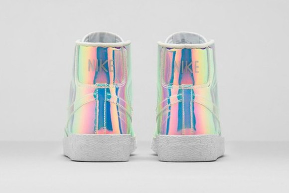 holographic high top sneakers shoes holographic shoes sneakers grunge shoes grunge