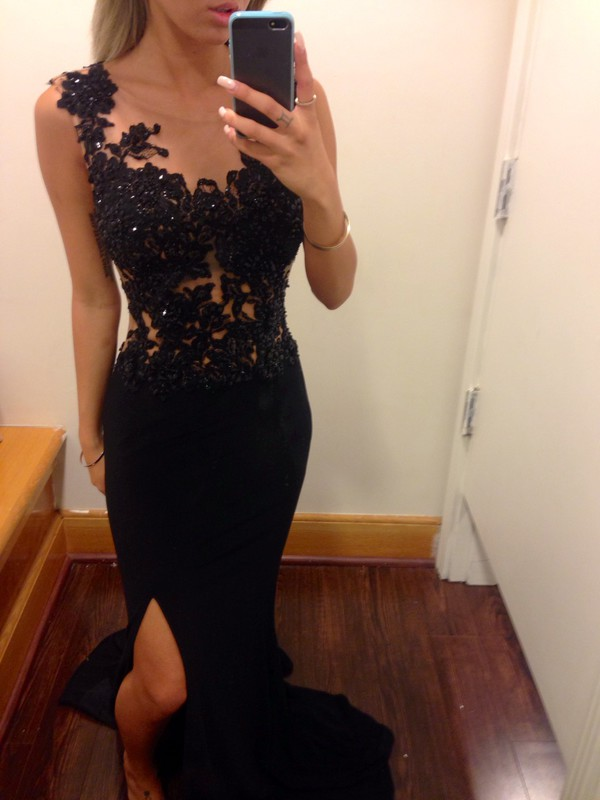 dress prom dress glamour chique black prom dress black dress detail blouse