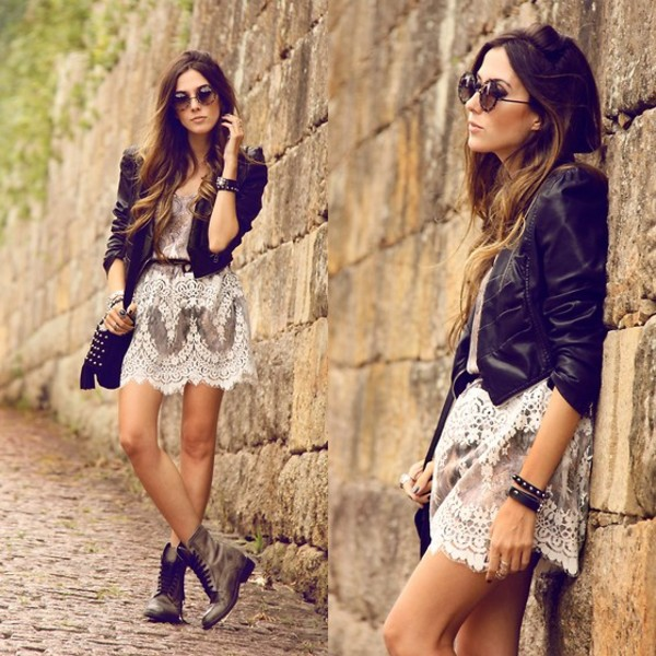shoes booties ankle boots lace dress white lace dress crochet dress fashion blogger dress