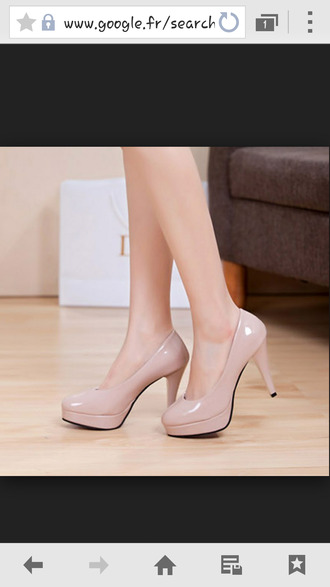 beige heels high heels vernis wool