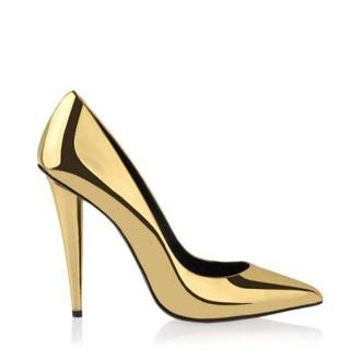 shoes heels metallic shoes gold