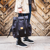 bag,backpack,rucksack,sac a dos,rolltop backpack,rolltop bag,roll top backpack,roll top bag,black backpack,mensbackpack,mens backpack,womens backpack,unisex backpck,hipster backpack,fashion,style,style me,trendy,lifestyle