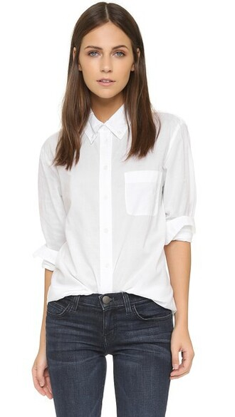 blouse white bright top