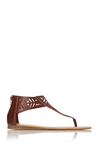 Geo Maze Lasercut Sandals | FOREVER21 - 2000089991