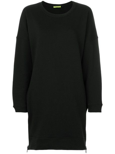 dress sweatshirt dress zip women embellished cotton black