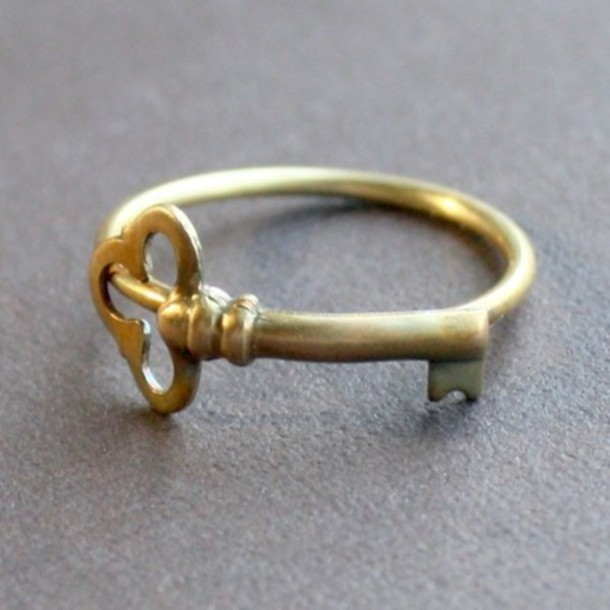 jewels ring key ring gold ring