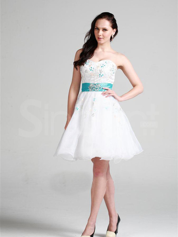 dress sleeveless rhinestones princess white homecoming dress