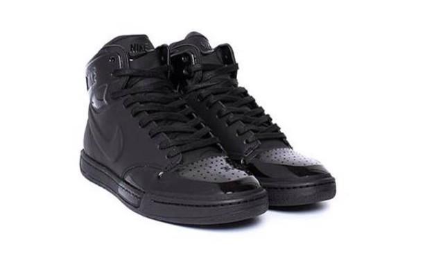 shoes black nike leather kicks nike air force air jordan coat dress hair accessory