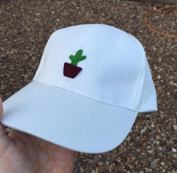 hat cactus cute grunge baseball baseball cap black artsy trendy tumblr  stylish funny creative etsy embroided ca4696a5643