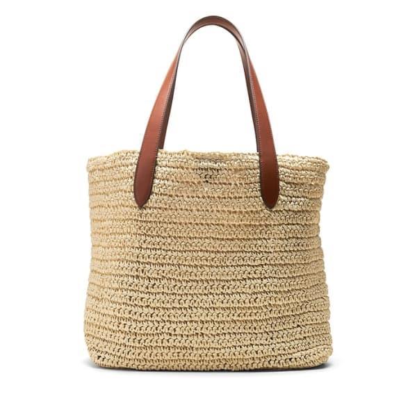 Banana Republic Women's Straw Beach Tote Bag Natural Regular Size One Size