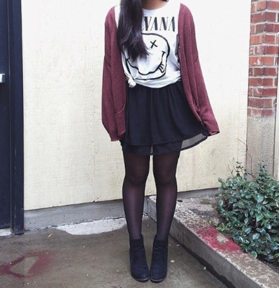 nirvana top cardigan blouse