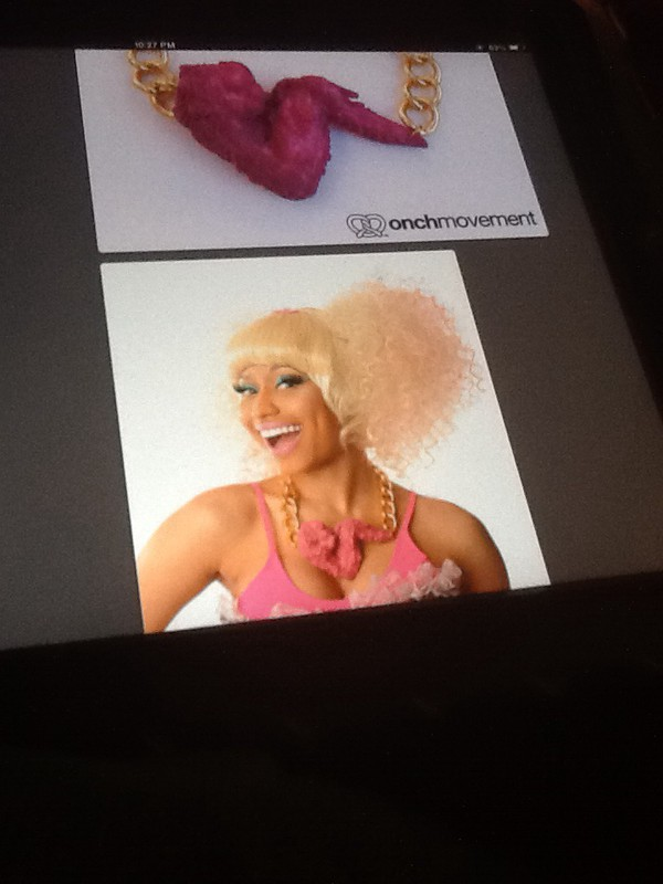 jewels pink nicki minaj chicken foodporn food bold necklace wear yummy jewelry