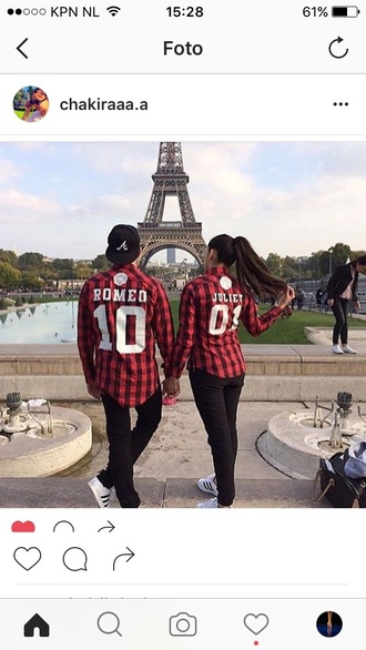 blouse couple matching couples flannel shirt plaid shirt