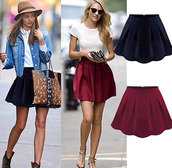 skirt,skater skirt,burgundy,black,sunglasses,retro sunglasses,hat,floppy hat,candice swanepoel,miranda kerr,bag,denim,denim jacket,jacket,t-shirt,white,shoes,high heels,black high heels,blonde hair,jewels
