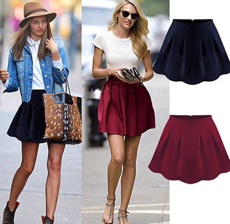 skirt skater skirt burgundy black sunglasses retro sunglasses hat floppy hat candice swanepoel miranda kerr bag denim denim jacket jacket t-shirt white shoes high heels black high heels blonde hair jewels