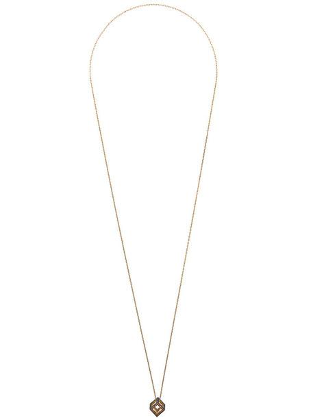 Noor Fares rainbow women necklace gold yellow grey metallic jewels