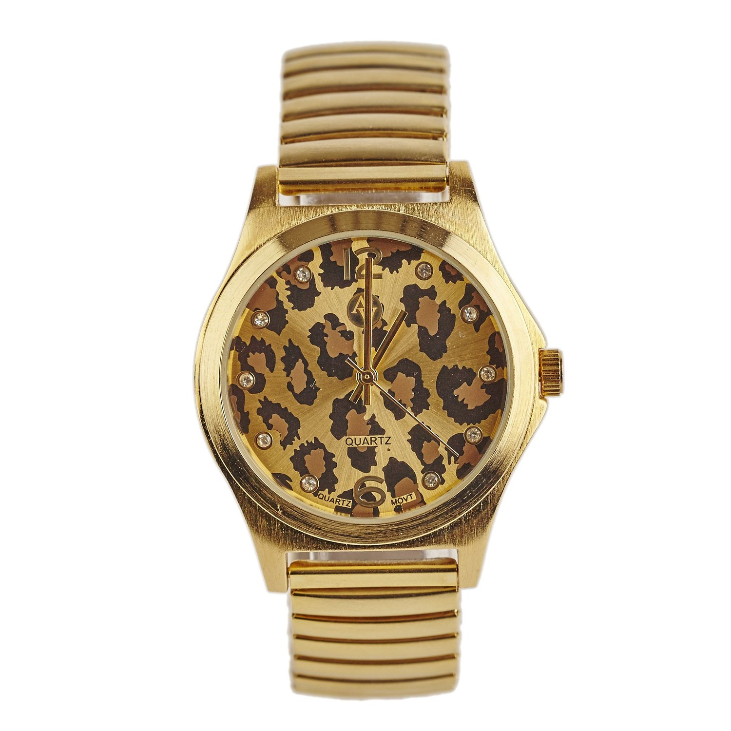Amazon.com: adrienne vittadini® rose gold women classic watch with a leopard print face: adrienne vittadini: watches