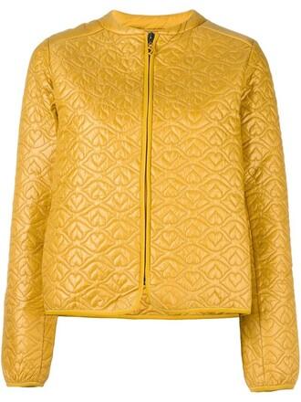 jacket puffer jacket women yellow orange