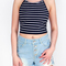 Stripe crop top|disheefashion