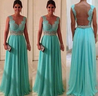 dress long gown prom dress mint silver celebrity style blue blue dress backless dress long prom dress turquoise lace dress lace backless wedding dress turquoise homecoming dress long dress sequins one shoulder dress aqua baby blue mint turquoise dress debs dress