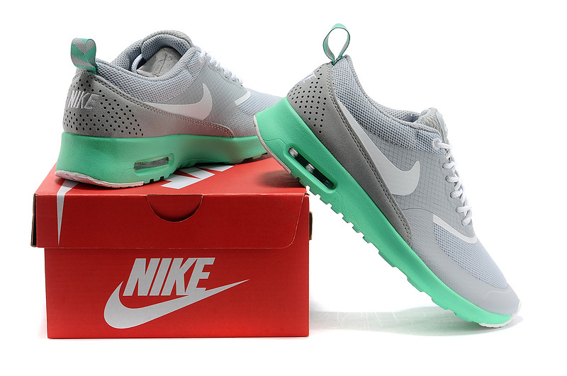 new arrival 7c3e7 6810e (176TU) Nike Air Max Thea Print Ladies Grey Mint Green Running Shoes -  £61.67