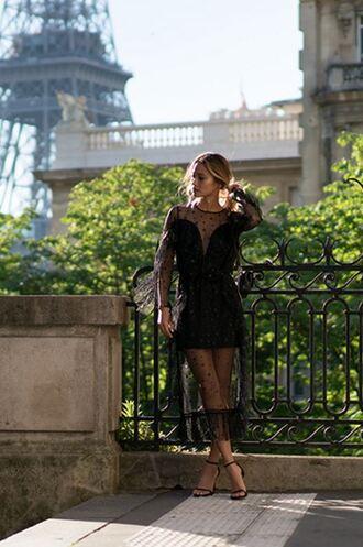 dress black dress black see through see through dress midi dress jamie chung blogger sandals sandal heels