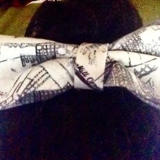 hair accessory handmade black white bows