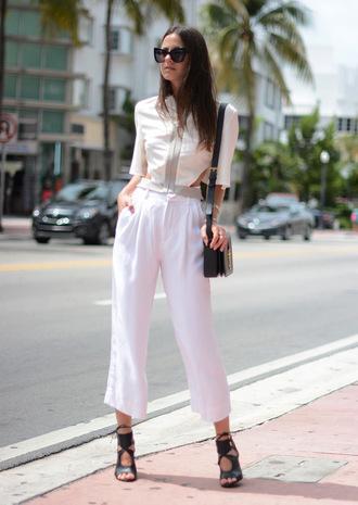 fashion vibe blogger top shoes bag sunglasses