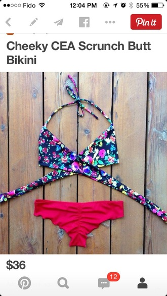 swimwear bikini top bikini colourful bikini bright bikini floral swimwear colourful swimwear colourful swimsuit
